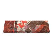 Japanese Imperial Crimson Patterns Canvas Print