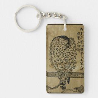 Japanese Ink - 17th century Single-Sided Rectangular Acrylic Keychain
