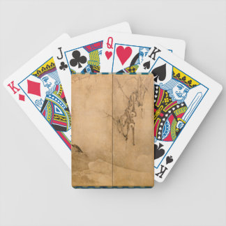 Japanese Ink on paper Gibbons Primates & Landscape Bicycle Playing Cards