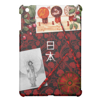 Japanese Inspired Red and Black Design iPad Mini Case