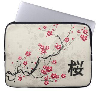 japanese inspired sakura cherry blossom laptop sleeves