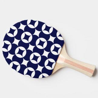 Japanese interlocking circles in Delft Blue Ping-Pong Paddle