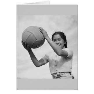 Japanese Internment Camp Volleyball WWII Greeting Card