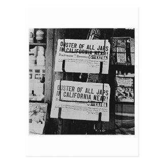 Japanese Internment - Newspapers Postcard