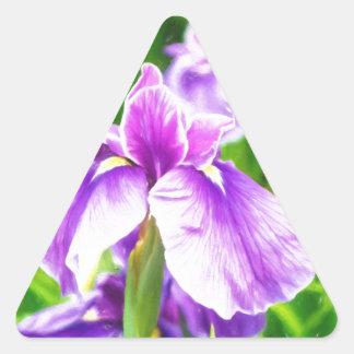 Japanese iris and hanasyobu triangle sticker