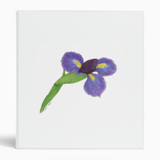 Japanese Iris Blossom 3 Ring Binder