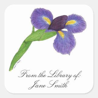 Japanese Iris Blossom Book Plate