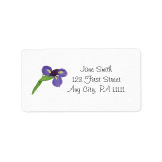 Japanese Iris Blossom Personalized Address Label