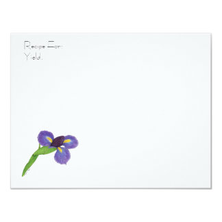 Japanese Iris Blossom Recipe Card