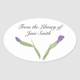 Japanese Iris Book Plate Sticker