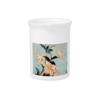 Japanese Irises Drink Pitcher