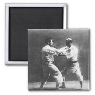 Japanese Judoka Jigoro Kano Kyuzo Mifue Judo 2 Inch Square Magnet