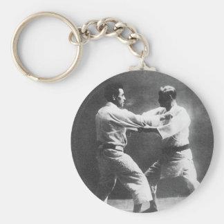 Japanese Judoka Jigoro Kano Kyuzo Mifue Judo Basic Round Button Keychain