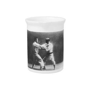 Japanese Judoka Jigoro Kano Kyuzo Mifue Judo Beverage Pitcher