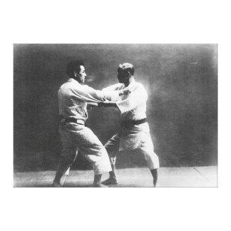 Japanese Judoka Jigoro Kano Kyuzo Mifue Judo Canvas Print