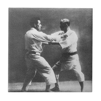 Japanese Judoka Jigoro Kano Kyuzo Mifue Judo Ceramic Tile