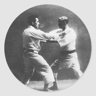Japanese Judoka Jigoro Kano Kyuzo Mifue Judo Classic Round Sticker