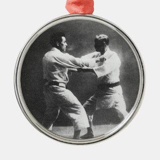 Japanese Judoka Jigoro Kano Kyuzo Mifue Judo Metal Ornament
