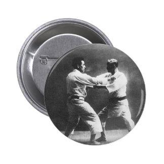 Japanese Judoka Jigoro Kano Kyuzo Mifue Judo Pinback Button