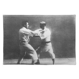 Japanese Judoka Jigoro Kano Kyuzo Mifue Judo Placemat