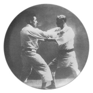 Japanese Judoka Jigoro Kano Kyuzo Mifue Judo Plate
