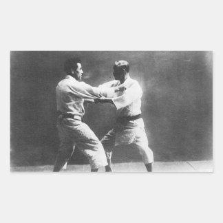 Japanese Judoka Jigoro Kano Kyuzo Mifue Judo Rectangular Sticker