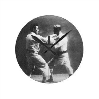 Japanese Judoka Jigoro Kano Kyuzo Mifue Judo Round Clock
