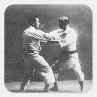 Japanese Judoka Jigoro Kano Kyuzo Mifue Judo Square Sticker