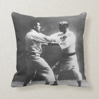 Japanese Judoka Jigoro Kano Kyuzo Mifue Judo Throw Pillow