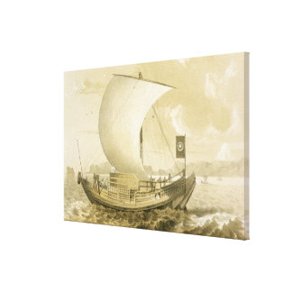 Japanese Junk, pub. by Sarony & Co., c.1856 (litho Canvas Print