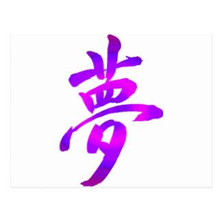 Japanese Kanji - Dream Postcard