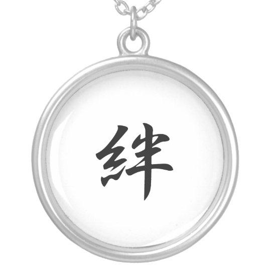 Japanese Kanji for Bond - Kizuna Silver Plated Necklace