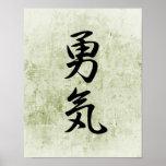Japanese Kanji for Courage - Yuuki Poster