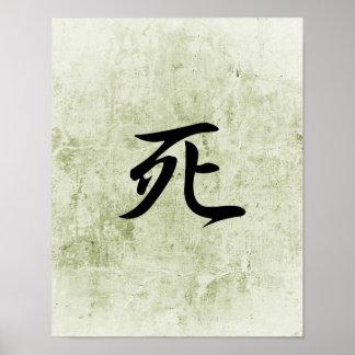 Japanese Kanji for Death - Shi Poster
