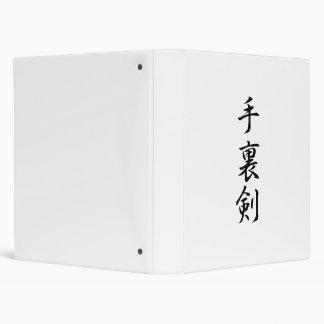 Japanese Kanji for Throwing Knives - Shuriken Binder