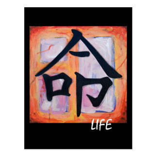 Japanese Kanji Symbol - LIFE Postcard