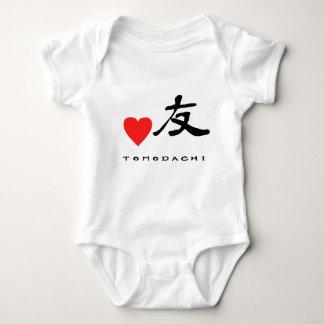 "Japanese Kanzi Kanji -""Friend"" Baby Bodysuit"