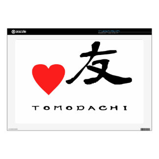 "Japanese Kanzi Kanji -""Friend"" Skin For Laptop"