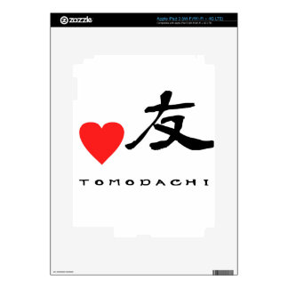 "Japanese Kanzi Kanji -""Friend"" Skins For iPad 3"