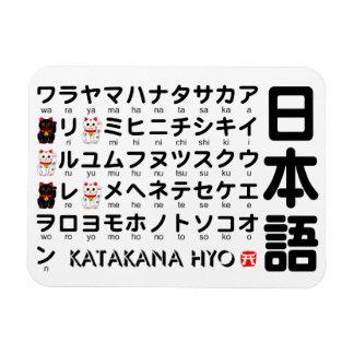 Japanese Katakana (Alphabet) table Magnet