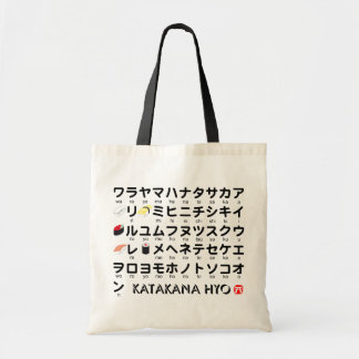 Japanese Katakana table(Sushi) Tote Bag
