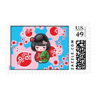 Japanese Kawaii Doll Stamps