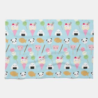 Japanese Kawaii Snacks Hand Towel