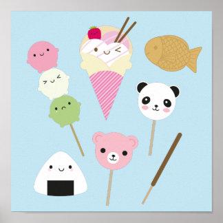 Japanese Kawaii Snacks Poster