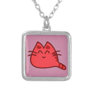 Japanese Kawaii Style Kitty Cat Cute Silver Plated Necklace