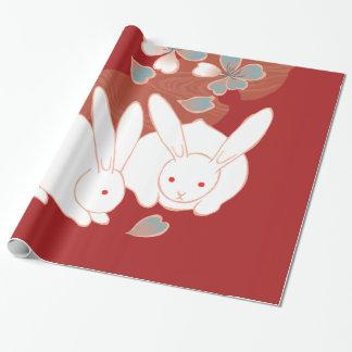 Japanese Kimono Cute Rabbits Fine Art Wrapping Paper