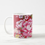 Japanese Kimono Flowers Coffee Mug