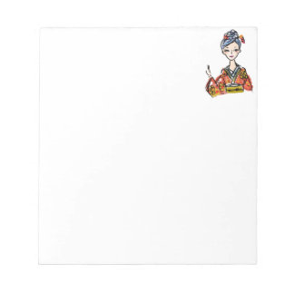 Japanese Kimono Girl. Makes a great gift! Notepad