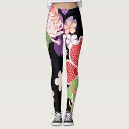 Japanese Kimono Patern A Leggins Leggings