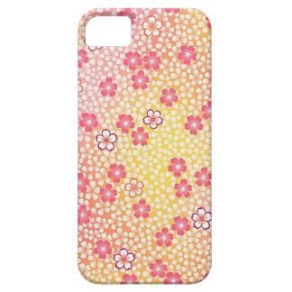 Japanese KIMONO Textile, Cherry Blossoms Pattern iPhone SE/5/5s Case